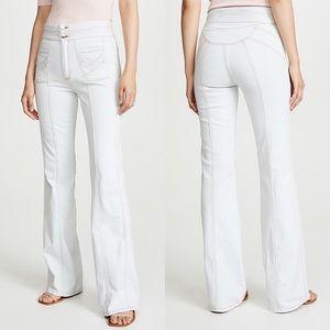 "Veronica Beard 11"" High Rise Farrah Wide Leg Jean"